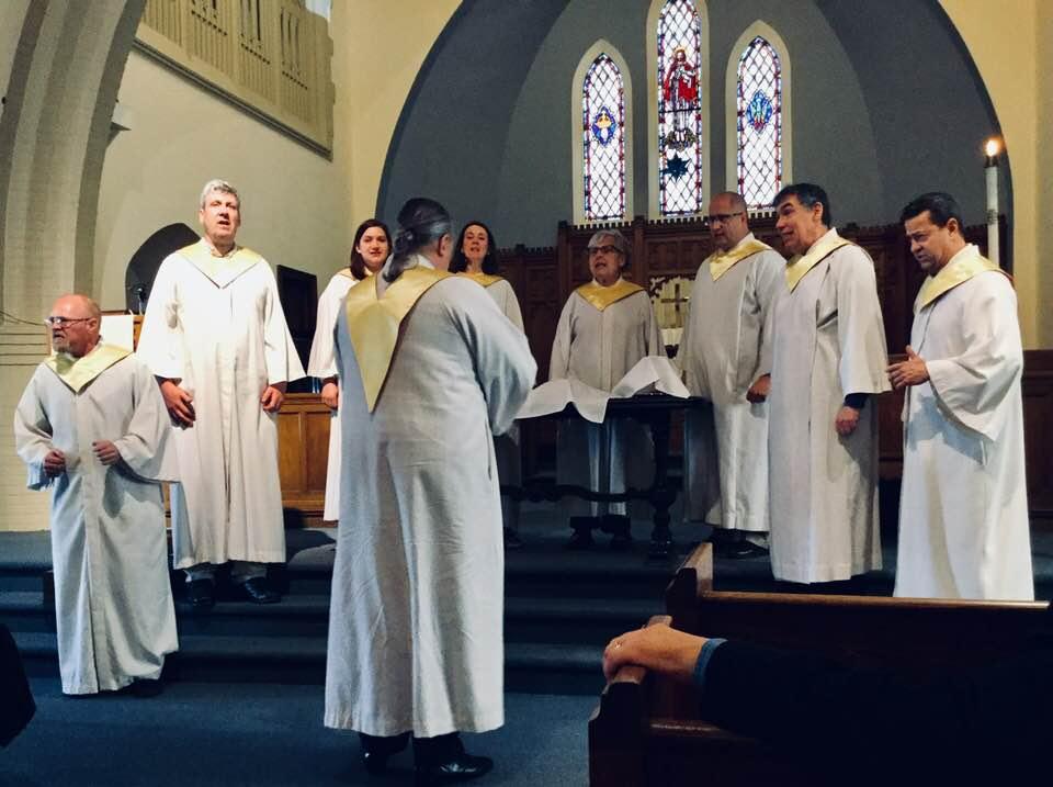 Epiphany UCC Choir singing during the Offertory at Worship at CMA Spring Meeting